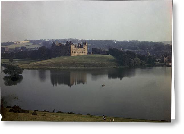 Reflections Of Building In Water Greeting Cards - Ruins Of Linlithgow Palace Reflect Greeting Card by B. Anthony Stewart