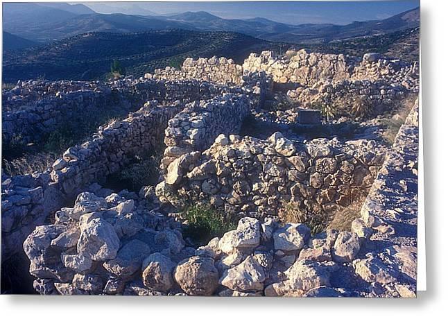 Ruins Of Mycenae Greeting Card by Andonis Katanos