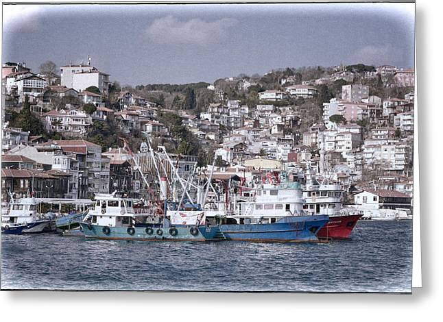 Historic Ship Greeting Cards - Rumeli Kavagi Greeting Card by Joan Carroll