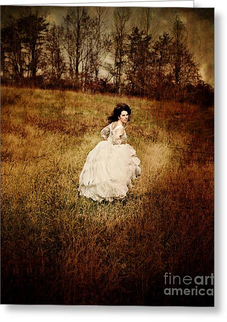 Run Away Greeting Card by Stephanie Frey
