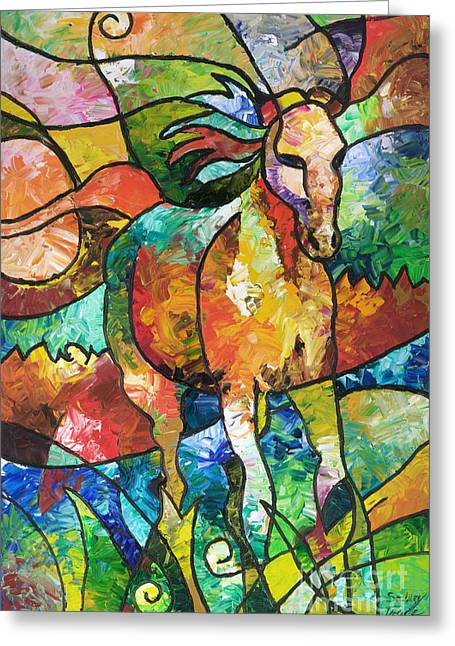 Mango Greeting Cards - Run Free Greeting Card by Sally Trace