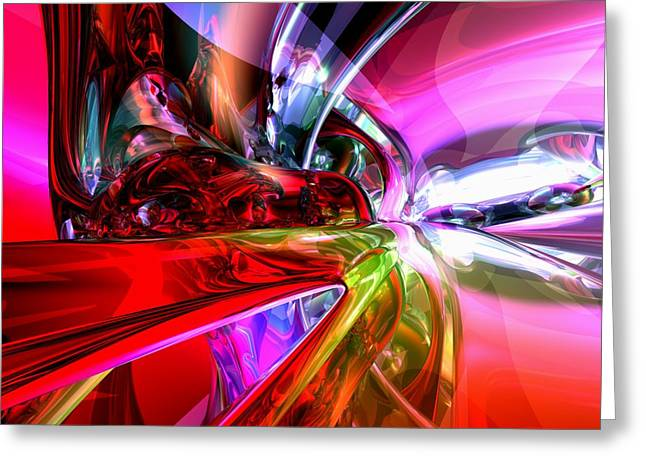Blue Grapes Greeting Cards - Runaway Color Abstract Greeting Card by Alexander Butler