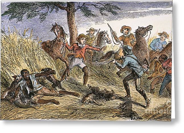RUNAWAY SLAVE Greeting Card by Granger