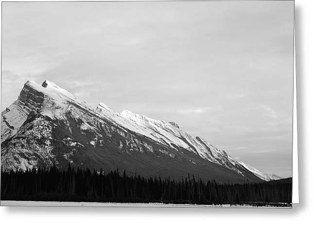 Banff Greeting Cards - Rundle Greeting Card by Jordan Drapeau