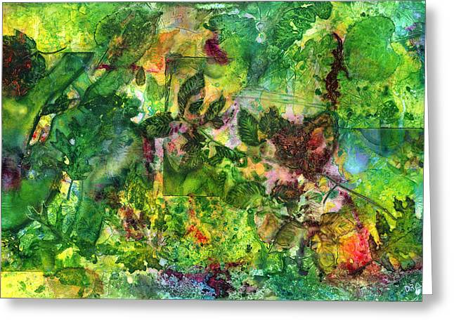 Fallen Leaf Mixed Media Greeting Cards - Runes of Autumn Greeting Card by James Draper