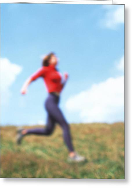 Jogging Greeting Cards - Running Greeting Card by Cristina Pedrazzini