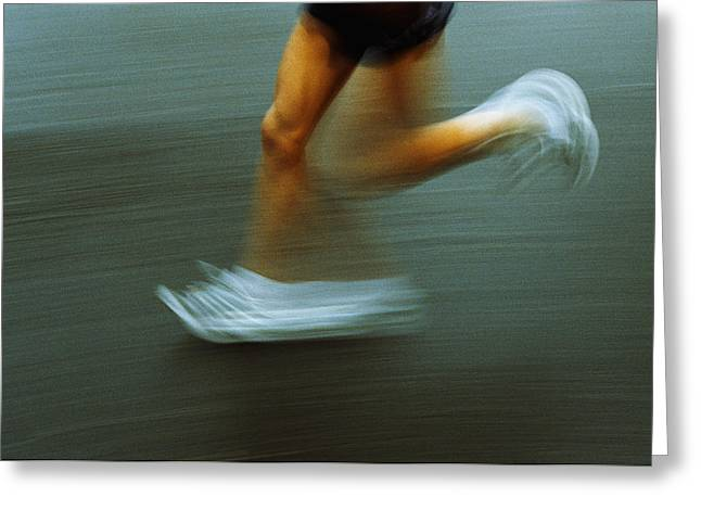 Running Greeting Card by Kevin Curtis