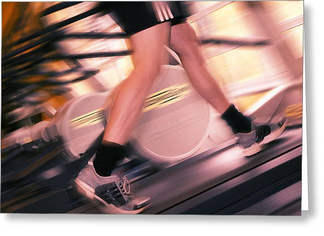 Sporting Activities Greeting Cards - Running Machine Greeting Card by Mark Sykes