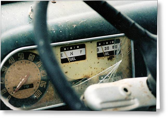 Fuel Gauge Greeting Cards - Running on Empty Greeting Card by Lauri Novak