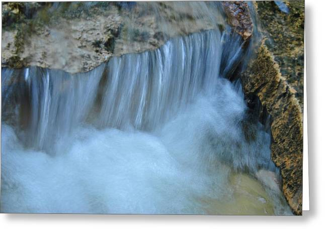 Stream Pyrography Greeting Cards - Running Water Greeting Card by Carl Hall