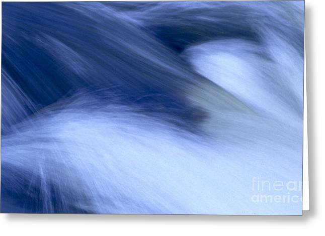 Wave Up Close Greeting Cards - Running water Greeting Card by Heiko Koehrer-Wagner