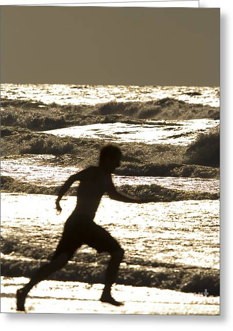 Runner Boards Greeting Cards - Running with the waves Greeting Card by Christopher Purcell