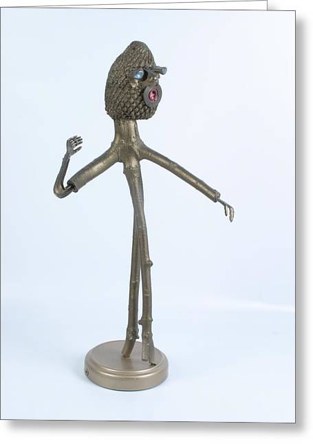 Model Sculptures Greeting Cards - Runway Greeting Card by Michael Jude Russo
