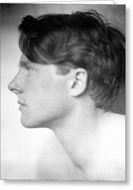 Brookes Greeting Cards - Rupert Brooke (1887-1915) Greeting Card by Granger