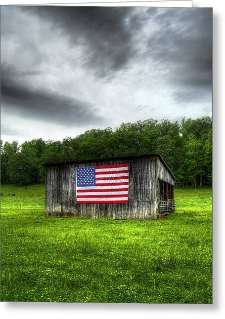 4th July Photographs Greeting Cards - Rural Barn Greeting Card by Steve Hurt