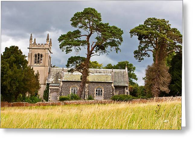 Freaky Greeting Cards - Rural Church Greeting Card by Tom Gowanlock