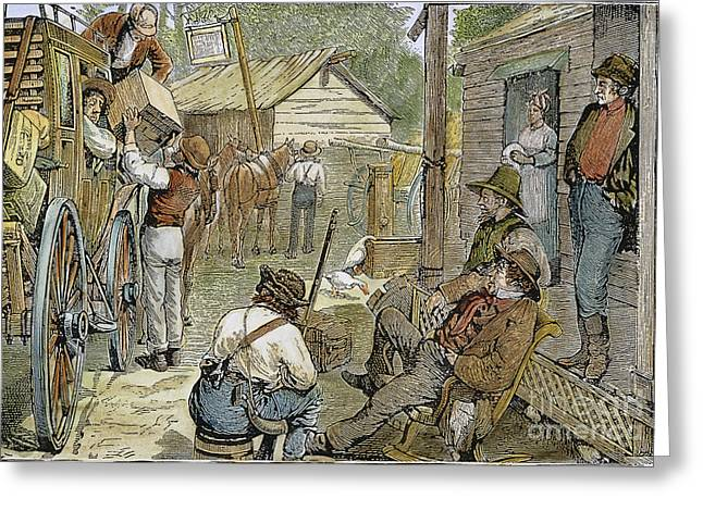 Rural Coach Stop, 1842 Greeting Card by Granger