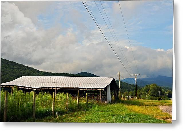 Rural Highways And Biways Greeting Card by Susan Leggett