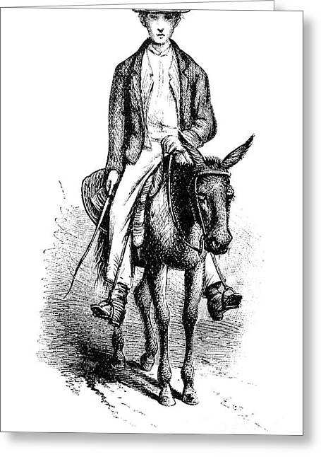 1874 Greeting Cards - Rural Mail Carrier, 1874 Greeting Card by Granger