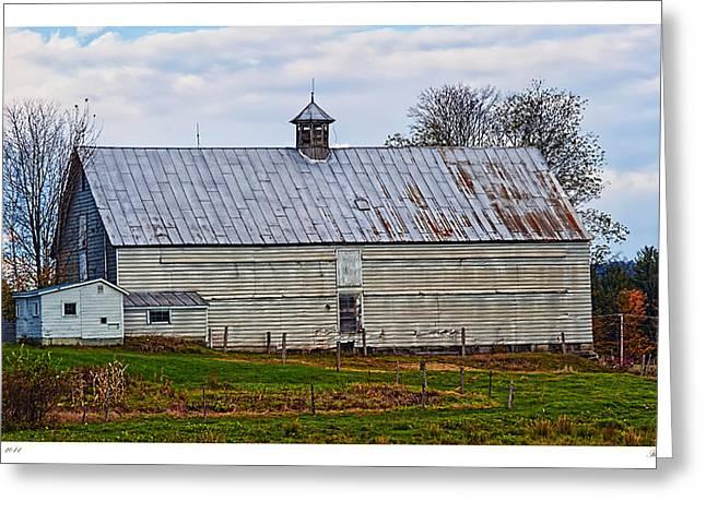 Maine Farms Greeting Cards - Rural Maine Farm Greeting Card by Richard Bean