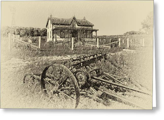 Grey Roots Museum Greeting Cards - Rural Ontario antique Greeting Card by Steve Harrington