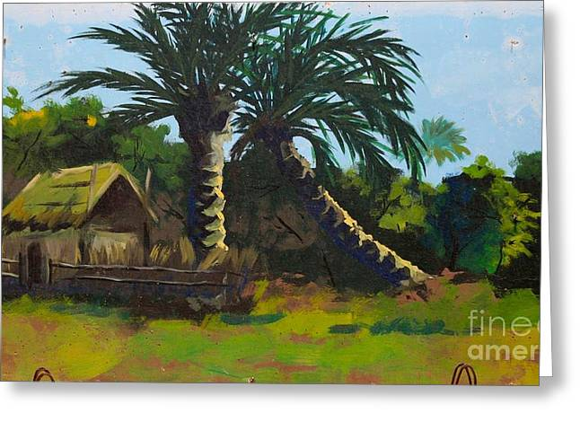 Iraq Conflict Greeting Cards - Rural Paradise Greeting Card by Unknown