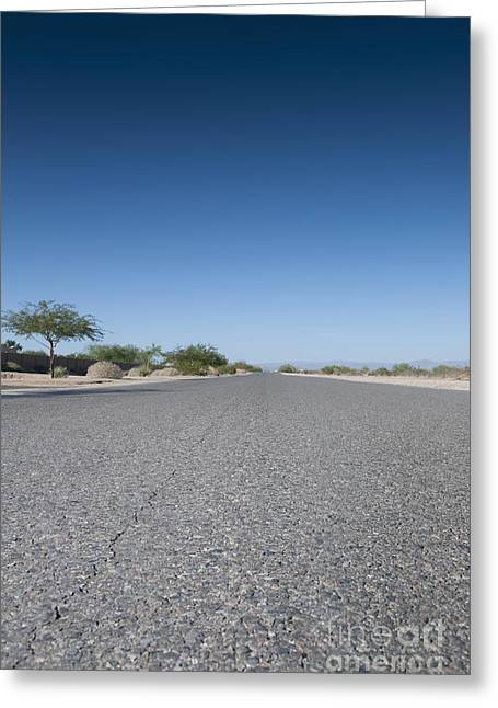 Arid Life Photographs Greeting Cards - Rural Road Greeting Card by Dave & Les Jacobs