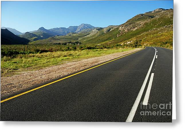 Stellenbosch Photographs Greeting Cards - Rural road Greeting Card by Sami Sarkis