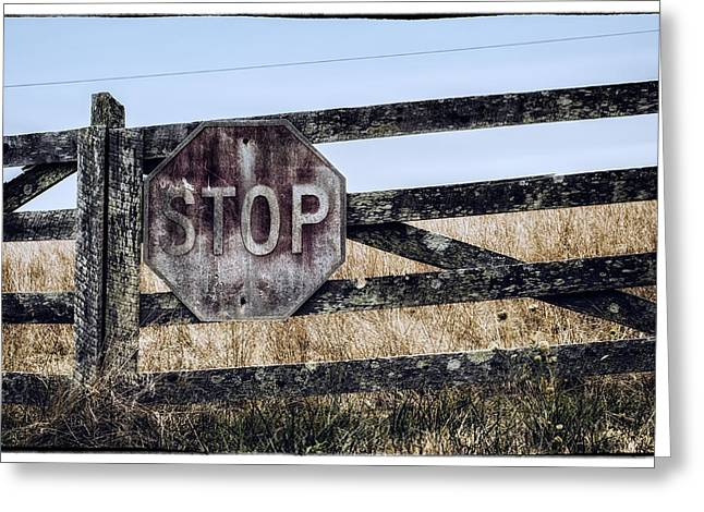 Rural Stop Greeting Card by James Bull
