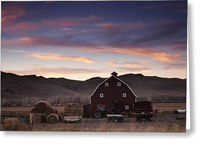 Sunset Photos Greeting Cards - Rural Sunset Greeting Card by Andrew Soundarajan