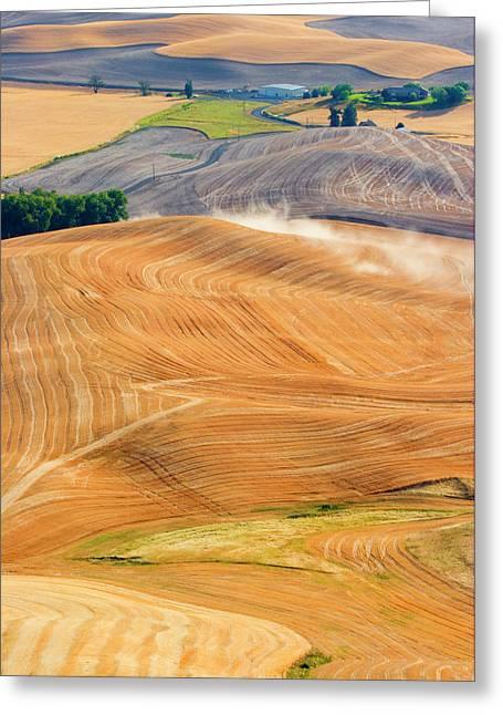 Hills Greeting Cards - Rural Traffic Greeting Card by Mike  Dawson