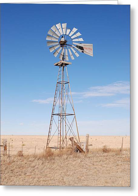 Rural Decay Prints Greeting Cards - Rural Windmill Greeting Card by Melany Sarafis