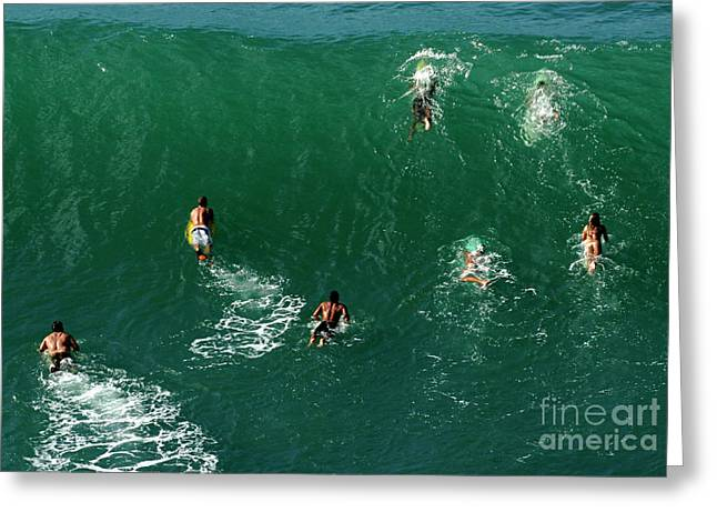 Wind Surfer Greeting Cards - Rush Hour Traffic Greeting Card by Bob Christopher