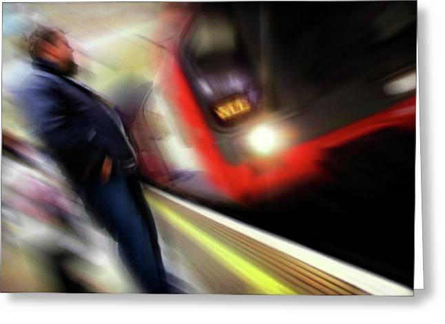 Transport For London Greeting Cards - Rush Greeting Card by Richard Piper