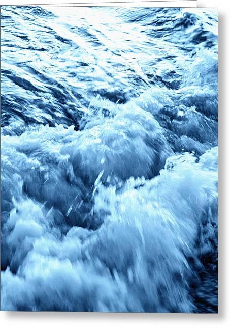 Panama City Beach Greeting Cards - Rushing Water Greeting Card by Skip Nall