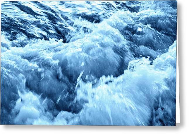 Rushing Water Greeting Card by Skip Nall