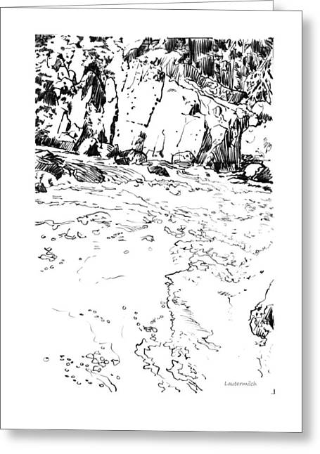 Rushing Stream Greeting Cards - Rushing Waters Colorado Greeting Card by John Lautermilch