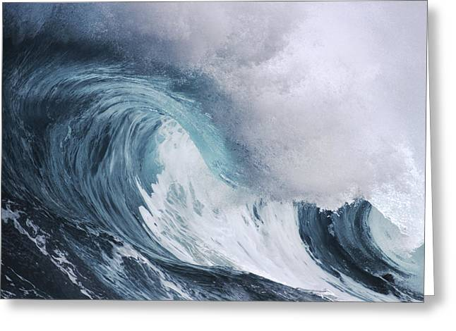 Vince Greeting Cards - Rushing Wave Greeting Card by Vince Cavataio - Printscapes