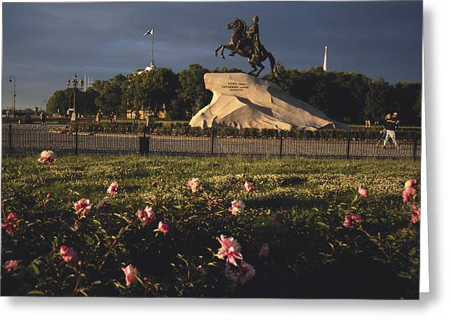 Russia, St. Petersburg, The Bronze Greeting Card by Keenpress