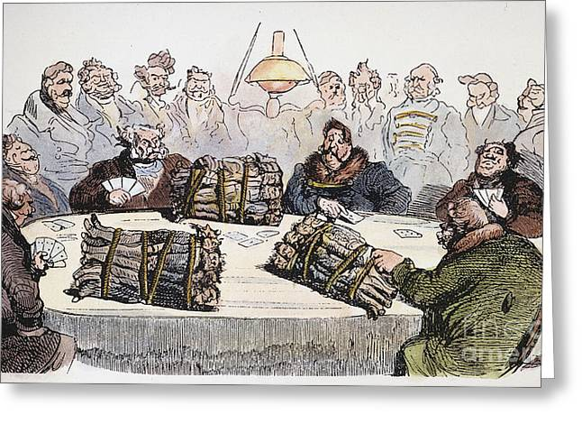 Serf Greeting Cards - Russian Cartoon, 1854 Greeting Card by Granger