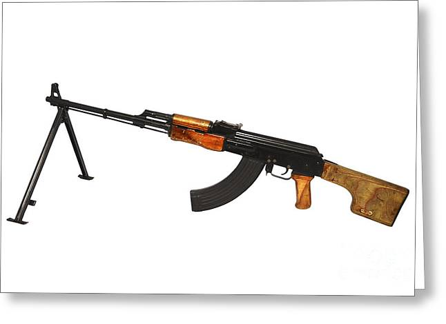 7.62mm Greeting Cards - Russian Rpk 7.62mm Light Machine Gun Greeting Card by Andrew Chittock