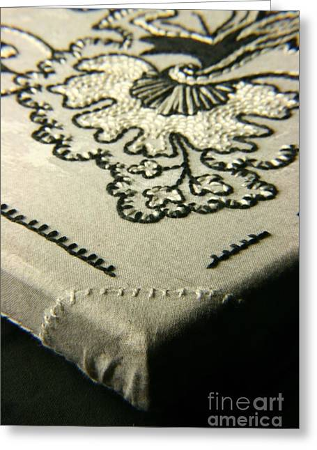 White Tapestries - Textiles Greeting Cards - Russian Trio - Close-Up Greeting Card by Carolyn Powers