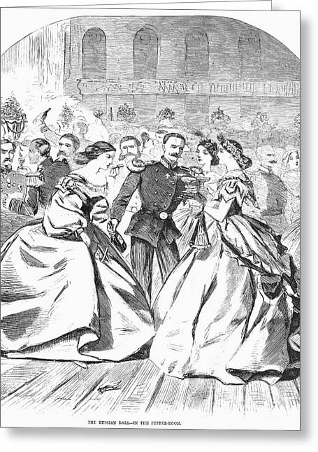 Ball Gown Greeting Cards - Russian Visit, 1863 Greeting Card by Granger