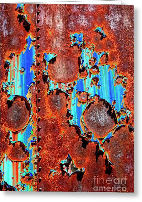 Rusted Cars Digital Art Greeting Cards - Rust and Paint - SE Greeting Card by Paul W Faust -  Impressions of Light