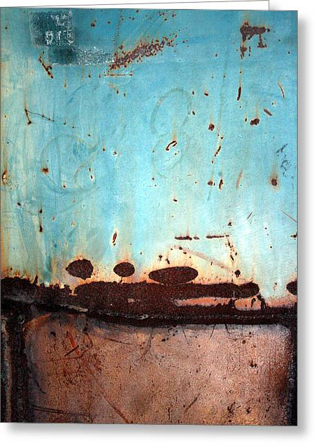 Manoa Falls Greeting Cards - Rust and Paint 1 Greeting Card by Jennifer  Bright