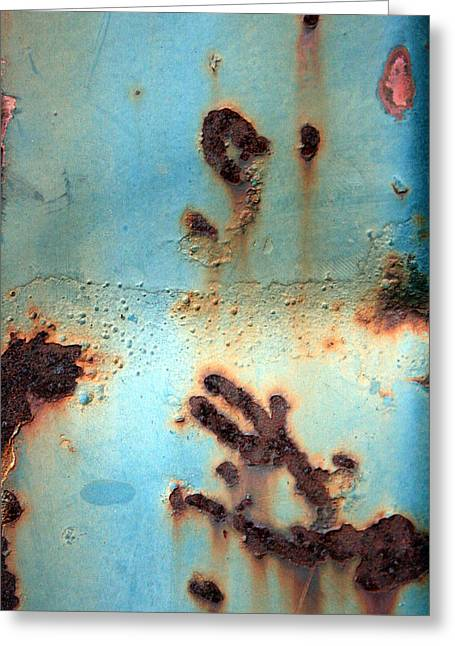 Manoa Falls Greeting Cards - Rust and Paint 2 Greeting Card by Jennifer  Bright