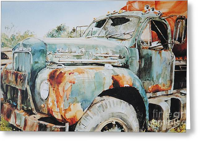 Old Relics Paintings Greeting Cards - Rust Assured Greeting Card by P Anthony Visco