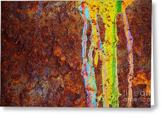 Vandalize Photographs Greeting Cards - Rust Background Greeting Card by Carlos Caetano