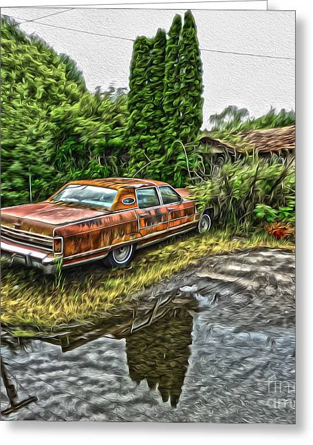 Gregory Dyer Greeting Cards - Rust Bucket Greeting Card by Gregory Dyer