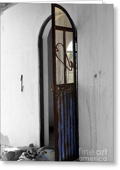 Old Door Print Greeting Cards - Rust Greeting Card by Cheryl Young